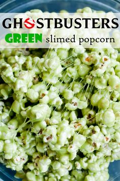 ghostbusters green slimed popcorn via @Lindsey Grande Johnson // Cafe Johnsonia