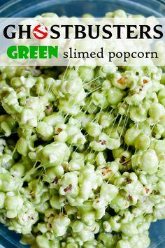 ghostbusters green slimed popcorn via @Lindsey Grande Johnson // Cafe Johnsonia
