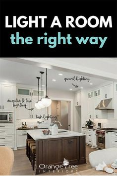 Learn how to calculate how much light is needed in a room. Understand the differences between incandescent, LED, halogen & CFL bulbs and get educated on Watts, Lumens & Kelvins. Recessed Light Bulbs, Led Recessed Ceiling Lights, Kitchen Ceiling Lights, Ceiling Light Design, Living Room Recessed Lighting, Living Room Lighting Tips, Kitchen Lighting, Can Lights Living Room, Room Lights