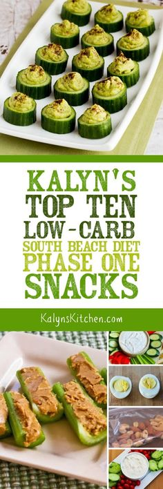 Kalyn's Top Ten Low-Carb (South Beach Diet Phase One) Snacks found on KalynsKitchen.com