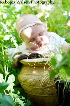 Sleeping garden baby