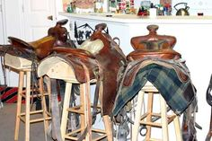 ideas on how to make a saddle stool...