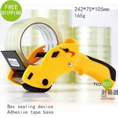 Deli sealing packer is capable 6cm width sealing tape holder cutter with cutter manual packing machine papelaria tape dispenser