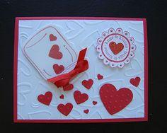 Stampin Up Handmade Valentine 4 Card Kit Sample Make 3 Mason Jar Hearts   eBay