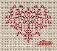 Russian heart cross-stitch - free