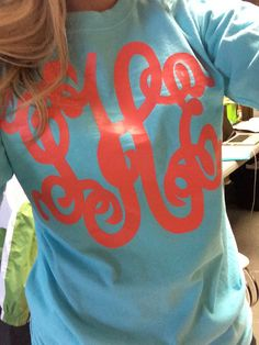 Monogrammed Tee Shirt by hadleyandfinn on Etsy