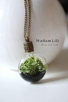 Collana Terrarium di MadamLili® ♥ Gioielli nostalgici e green per romantici ♥ l'originale dal 2009  su DaWanda.com