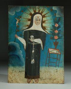Santa Rita de Casia http://www.colonialarts.com/retablos/santa-rita-de-casia-2