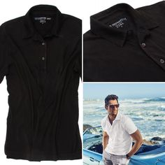 The World's Greatest Polo-Shirt   Black Vintage Washed Short Sleeves Made of natural materials Our guarantee: 100% Supercombined Pima Cotton / Organic Wash UP TO 60 DEGREES Celcius  Zero percent shrinkage, dryer proof Maximum maturity of elasticity & shape Ecological dyes of supreme quality & free of chemicals