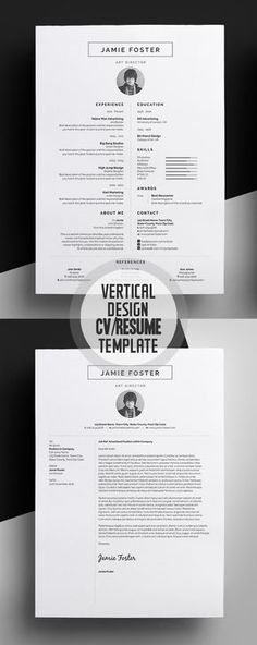 Beautiful Vertical Design CV/Resume Template