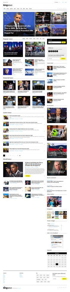 KingNews multipurpose HTML template http://www.templatemonster.com/website-templates/king-news-multipurpose-website-template-58731.html