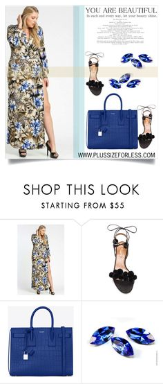"""PLUSSIZEFORLESS.COM"" by amra-mak ❤ liked on Polyvore featuring Aquazzura, Yves Saint Laurent and plussizeforless"