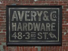 Vintage style sign $375; this company is pricey but does an amazing job of reproductions.