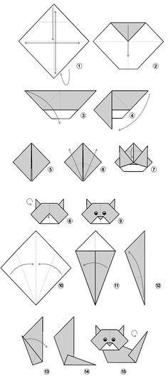 origami simple cat - 28 images - papieru origami kot grafika wektorowa 169 easy cat related keywords suggestions easy cat, origami how to make a cat puppet, origami cat easy origami for, easy origami cat kidspressmagazine Diy Origami, Gato Origami, Design Origami, Origami Paper Folding, Origami Star Box, Origami And Kirigami, Origami Fish, Useful Origami, Origami Stars