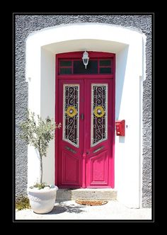 Molyvos village in Lesvos Island, Greece Cool Doors, Unique Doors, Portal, Samos, Knock On The Door, When One Door Closes, Entrance Ways, House Doors, Closed Doors