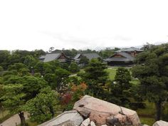 京都 二条城 天守閣跡より本丸御殿 2015.09.17