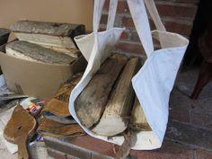 DIY Cloth Firewood Carrier