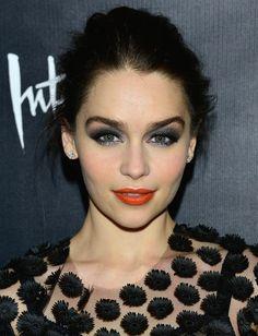love the orange lipstick