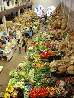 Mercado Central, Historic City of Sucre, Bolivia - a UNESCO World Heritage city. This market is unlike any other I've seen! I visited here 15th July 2014. We got freshly squeezed exotic fruit juices from the gorgeous stalls.