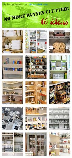 Please just one more pantry organizing pin.... can't get enough.... diy Design Fanatic: 16 Ideas For De-cluttering Your Pantries And Cabinets