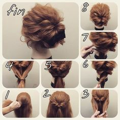 Imagem de hairstyle, hair, and tutorial