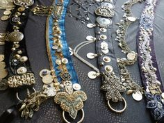 My Tribal Fusion Belts are lovingly created with all manner of trinketry, antique and vintage sparkly decorations, gorgeous decorations from around the globe, Turkoman buttons, coins, bead-work, you name it, if it's metal and sparkly, it's on there. They are gorgeous pieces of wearable art. Belly Dance Belt, Belly Dance Outfit, Belly Dance Costumes, Belly Dancers, Danza Tribal, Tribal Belly Dance, Bohemian Jewellery, Hippie Jewelry, Tribal Fusion