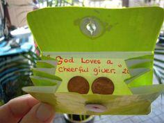 Mark 12:41-44; Luke 21:1-4: The Widow's Gift;   Widow's Mite Craft