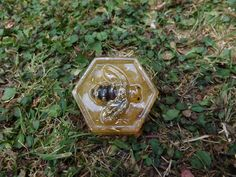 Orgonite Bee Hexagon Attracts Abundance into your life -Honey Coloured