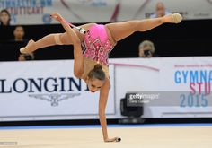 Margarita Mamun of Russia competes during the 34th Rhythmic Gymastics World Championships on September 10, 2015 in Stuttgart, Germany.
