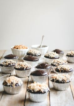 Coconut Macaroon Chocolate Cupcakes with Nutella Ganache Recipe