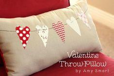 DIY Pillowcases : DIY  Valentine Throw Pillow