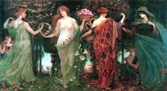 Walter Crane (1845-1915) - The Four Seasons