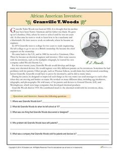 a biography of granville t woods an assiduous african american inventor American architect,  in search of jd salinger 1986 beller, t, j d salinger  and with the problems of african partition.