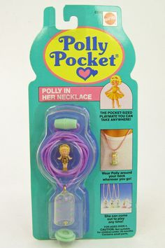 1991 Bluebird Polly Pocket Polly in Her Necklace Capsule Pendant MOC New | eBay