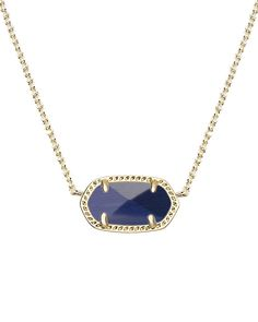 Elisa Pendant Necklace in Navy Cat's Eye - Kendra Scott Jewelry.