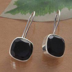 BLACK ONYX 925 SOLID STERLING SILVER AMAZING EARRING 5.49g DJER1489 #Handmade #EARRING