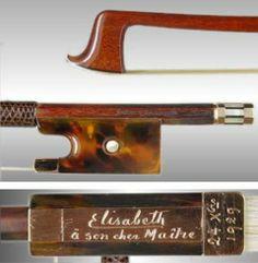 Ysaÿe's Sartory made for Queen Elisabeth of Belgium, 1929.