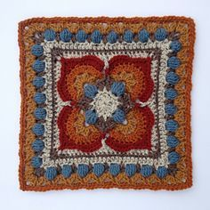 Meet Ilsa (and Rick) - the fourth installment to the Lovestruck collection, a series of twelve star-crossed afghan blocks sure to melt your heart. Crochet Squares Afghan, Crochet Blocks, Granny Square Crochet Pattern, Afghan Crochet Patterns, Crochet Granny, Manta Crochet, Knit Or Crochet, Crochet Motif, Crochet Stitches