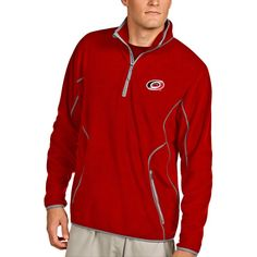 Carolina Hurricanes Antigua Ice Pullover 1/4-Zip Jacket - Red