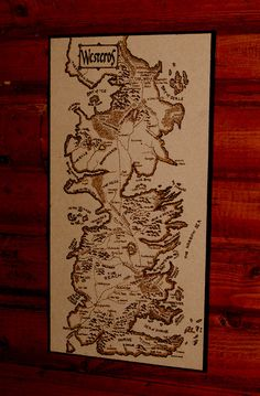 Game of Thrones Westeros map woodburned home decor by BaconFactory