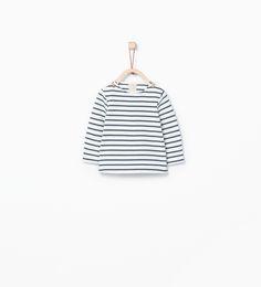 ZARA - COLLECTIE AW15 - Organisch katoenen shirt met strepen