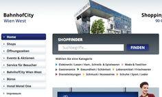 BahnhofCity Wien West Startseite © echonet communication GmbH