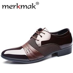 Merkmak Men Leather Shoes Oxford Genuine Leather Men s Dress Shoes Business  Flat Shoes Breathable Men s Banquet Wedding Shoes 48 4ec0f0a34b65