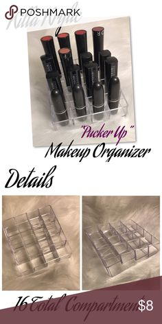 BOGO buy 2&get 1 Acrylic Lipstick makeup Organizer 🍃Pick ✌🏽Killa Krylic Organizers &  get two for $11 n get one free🍃   Exclusively from my boutique   Acrylic Makeup Organizer  With 16 Total Compartments   **Fast shipping** Killa Krylic Makeup Brushes & Tools