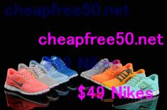 All #nikes free run shoes 50% off. I want these SO bad!!! $49.67