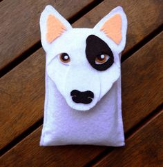 iPhone Case Bull Terrier Dog Felt Phone Cover by LayonStore
