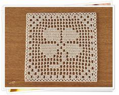 Lindo Crochet Patterns Filet, Crochet Mittens Free Pattern, Crochet Quilt, Crochet Tablecloth, Crochet Diagram, Crochet Squares, Knit Or Crochet, Crochet Granny, Crochet Motif