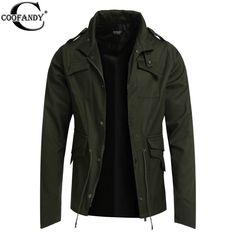 COOFANDY Jacket Coat WinterSpring Fashion Mens Trench Coat Slim Black Men's Jackets Outerwear Casual Windbreaker EZ #Affiliate