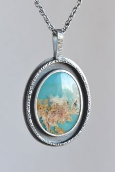 regency plume agate doublet oval framed sterling by laurenmeredith