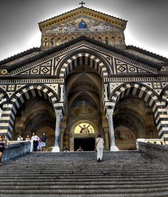 Amalfi, Italy - a 9th century Christian structure in the Piazza del Duomo. It is dedicated to the Apostle Saint Andrew.